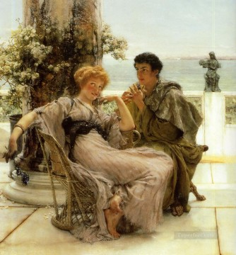 Courtship the Proposal Romantic Sir Lawrence Alma Tadema Oil Paintings