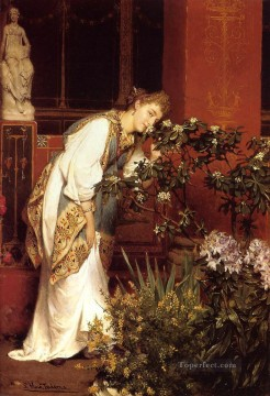Lawrence Canvas - In the Peristyle2 Romantic Sir Lawrence Alma Tadema