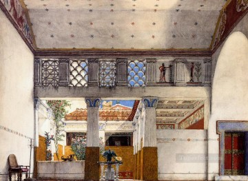 Interior Painting - Interior of Caius Martiuss House Romantic Sir Lawrence Alma Tadema