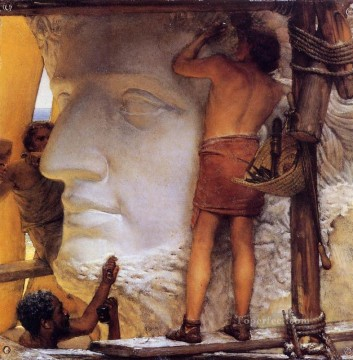 Ancient Canvas - Sculptors in Ancient Rome Romantic Sir Lawrence Alma Tadema