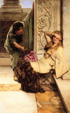 Lawrence Canvas - Shy Romantic Sir Lawrence Alma Tadema