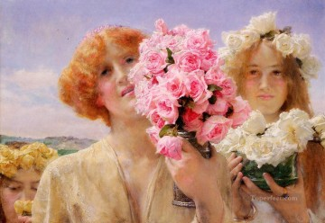 Lawrence Canvas - Summer Offering Romantic Sir Lawrence Alma Tadema