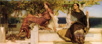 The Conversion Of Paula By Saint Jerome Romantic Sir Lawrence Alma Tadema Oil Paintings