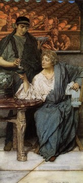Wine Painting - The Roman Wine Tasters Romantic Sir Lawrence Alma Tadema
