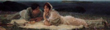 romantic romantism Painting - a world of their own Romantic Sir Lawrence Alma Tadema