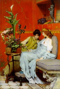 Lawrence Canvas - confidences Romantic Sir Lawrence Alma Tadema