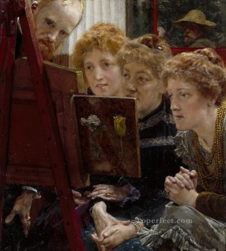 A Family Group Romantic Sir Lawrence Alma Tadema Oil Paintings