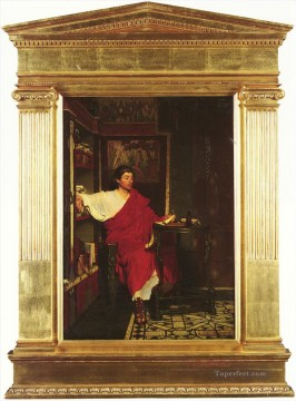 romantic romantism Painting - British 18361912A Roman Scribe Writing Dispatches Romantic Sir Lawrence Alma Tadema