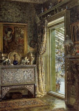 drawing Oil Painting - Drawing Room Holland Park Romantic Sir Lawrence Alma Tadema