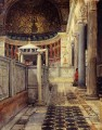 Interior of the Church of San Clemente Rome Romantic Sir Lawrence Alma Tadema