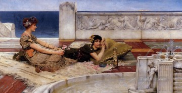 Loves Votaries Romantic Sir Lawrence Alma Tadema Oil Paintings