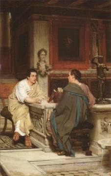 Lawrence Canvas - The Discourse Romantic Sir Lawrence Alma Tadema