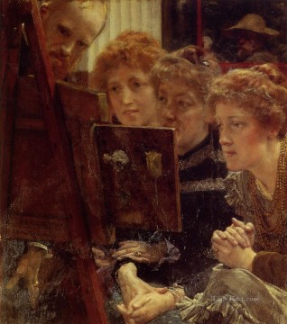 The Family Group Romantic Sir Lawrence Alma Tadema Oil Paintings