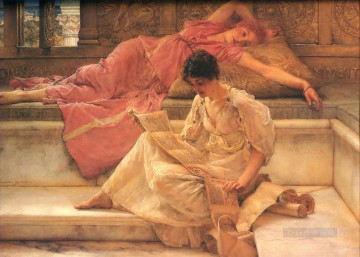 Lawrence Canvas - The Favourite Poet Romantic Sir Lawrence Alma Tadema