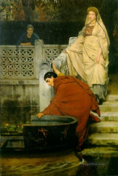 Lawrence Canvas - boating Romantic Sir Lawrence Alma Tadema
