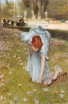 flora Romantic Sir Lawrence Alma Tadema Oil Paintings
