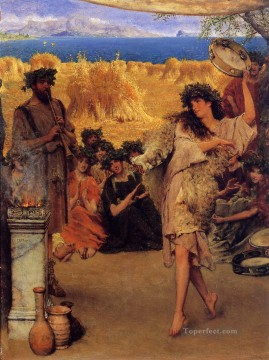 Dancing Art - A Harvest Festival A Dancing Bacchante at Harvest Time Romantic Sir Lawrence Alma Tadema