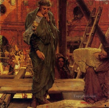 Lawrence Canvas - Architecture in Ancient Rome Romantic Sir Lawrence Alma Tadema