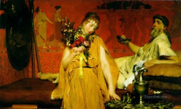 Between Hope and Fear Romantic Sir Lawrence Alma Tadema Oil Paintings