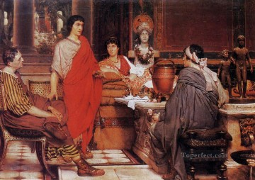 Lawrence Canvas - Catullus at Lesbias Romantic Sir Lawrence Alma Tadema