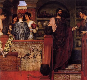 Lawrence Canvas - Hadrian Visiting a Romano British Pottery Romantic Sir Lawrence Alma Tadema