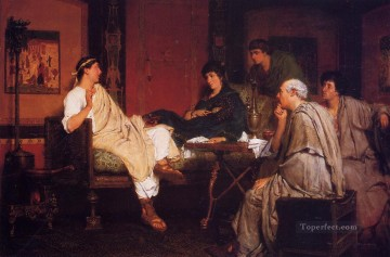 Lawrence Canvas - Tibullus at Delias Romantic Sir Lawrence Alma Tadema