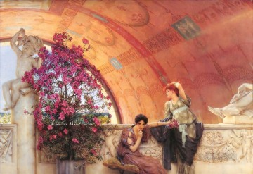 Unconscious Rivals Romantic Sir Lawrence Alma Tadema Oil Paintings