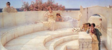 romantic romantism Painting - Under the Roof of Blue Ionian Weather Romantic Sir Lawrence Alma Tadema