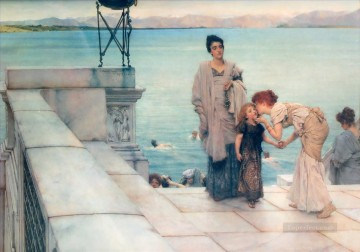 klimt kiss Painting - a kiss Romantic Sir Lawrence Alma Tadema