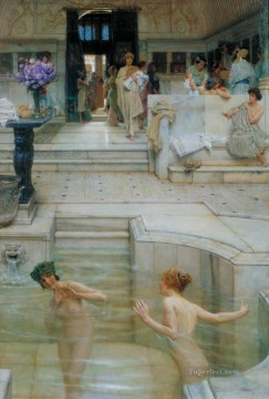 Romanticism Art Painting - A Favourite Custom Romanticism Sir Lawrence Alma Tadema
