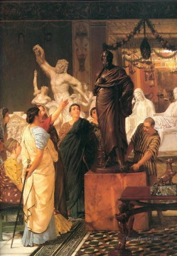 romantic romantism Painting - A sculpture gallery Romantic Sir Lawrence Alma Tadema