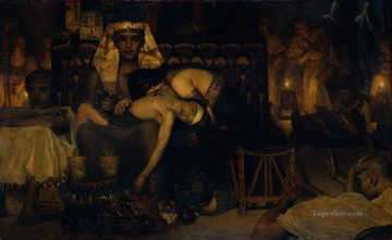 Lawrence Canvas - Death of the Pharaohs Firstborn Son Romantic Sir Lawrence Alma Tadema