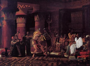 Ancient Canvas - Pastimes in Ancient Egyupe 3000 Years Ago Romantic Sir Lawrence Alma Tadema