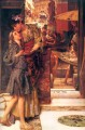 the parting kiss Romantic Sir Lawrence Alma Tadema