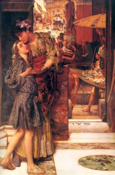 klimt kiss Painting - the parting kiss Romantic Sir Lawrence Alma Tadema