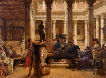 Lawrence Canvas - A Roman Art Lover Romantic Sir Lawrence Alma Tadema