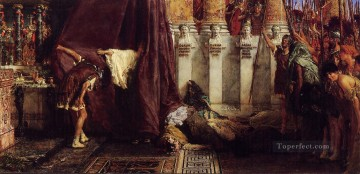 Lawrence Canvas - Ave Caesar Io Saturnalia Romantic Sir Lawrence Alma Tadema