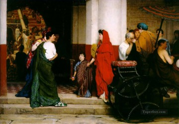 Lawrence Canvas - entrance to a roman theatre Romantic Sir Lawrence Alma Tadema