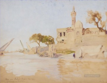 Alphons Leopold Mielich Painting - Oriental Landscape Alphons Leopold Mielich Orientalist scenes