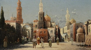 Alphons Leopold Mielich Painting - Oriental street scenes Alphons Leopold Mielich Orientalist scenes