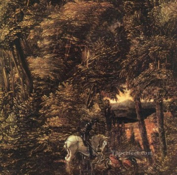 Denis van Alsloot Painting - Saint George In The Forest Flemish Denis van Alsloot