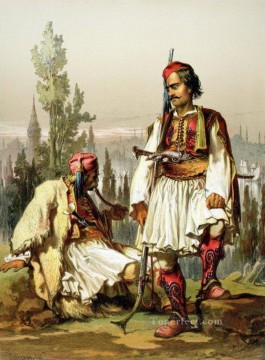 romantic romantism Painting - Albanians Mercenaries in the Ottoman Army Amadeo Preziosi Neoclassicism Romanticism
