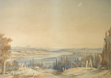 Constant Canvas - View of Constantinople from Eyup Amadeo Preziosi Neoclassicism Romanticism