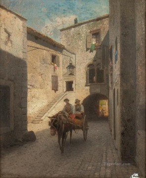 Street scene Amadeo Preziosi Neoclassicism Romanticism Oil Paintings