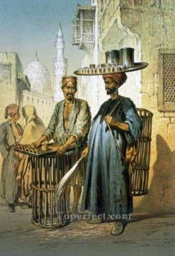 romantic romantism Painting - The Tea Seller from Souvenir of Cairo 1862 Amadeo Preziosi Neoclassicism Romanticism