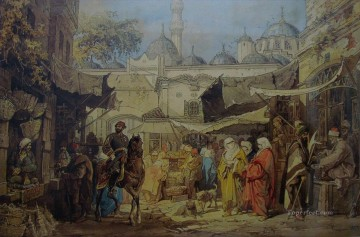 romantic romantism Painting - Shopping Square Amadeo Preziosi Neoclassicism Romanticism