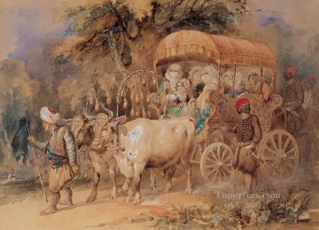Amadeo Works - Watercolour Ottoman Empire Amadeo Preziosi Neoclassicism Romanticism