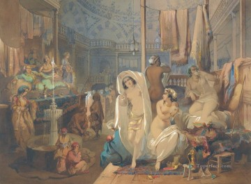 romantic romantism Painting - In the Hammam Amadeo Preziosi Neoclassicism Romanticism