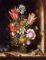 Still life with flowers and sea shells Ambrosius Bosschaert