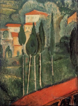 landscape southern france 1919 Amedeo Modigliani Oil Paintings